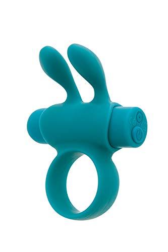 S Pleasures Premium Line Rabbit Ring Silicone Rechargeable Turquoise, Negro, Estandar