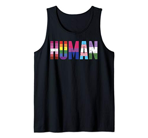 Human LGBT Lesbian Gay Bisexual Transgender Genderqueer Gift Tank Top