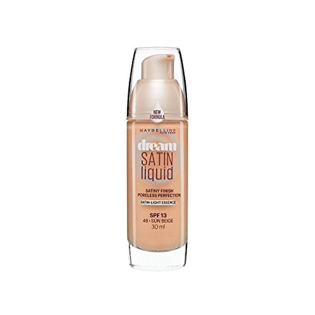 運命アルプスキャンペーンMaybelline Dream Satin Liquid Foundation 48 Sun Beige 30ml (Pack of 6) - メイベリン夢のサテンのリキッドファンデーション48日ベージュ30ミリリットル x6 [並行輸入品]