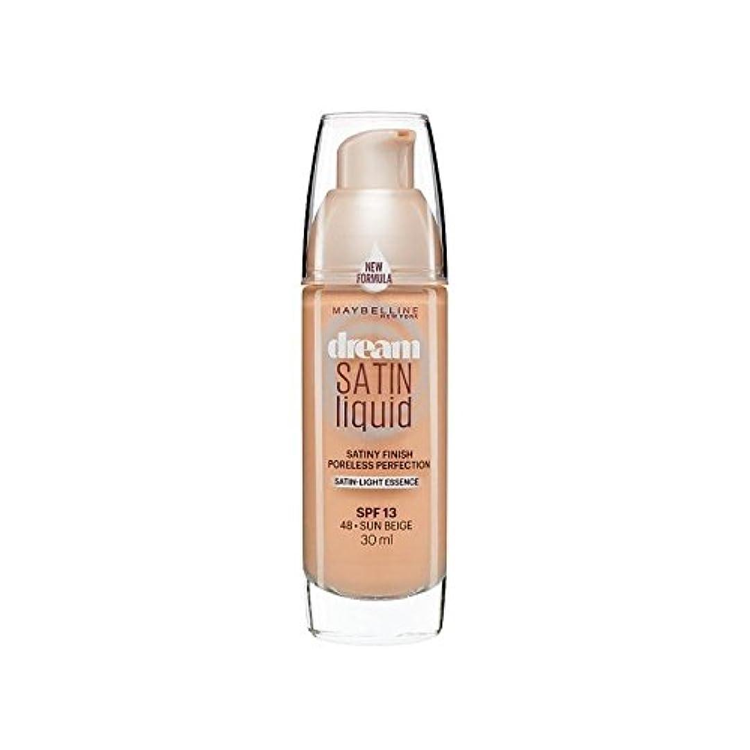 アクセスできない診療所潜むMaybelline Dream Satin Liquid Foundation 48 Sun Beige 30ml (Pack of 6) - メイベリン夢のサテンのリキッドファンデーション48日ベージュ30ミリリットル x6 [並行輸入品]