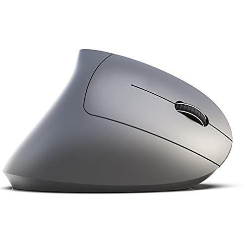 Gaeirt Ratón Ergonómico, Ratón Vertical Inalámbrico BT del Ratón De Los Accesorios del Ordenador para El Ordenador(Gris)