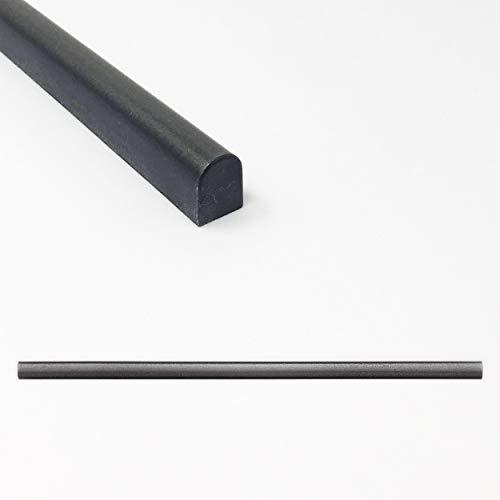 Tile Trim 1/2 X 12 inch Soho Pencil Shower Ceramic Tile Transition Liner Backsplash Wall Molding - Wrought Iron Metal Finish (6 Pack)