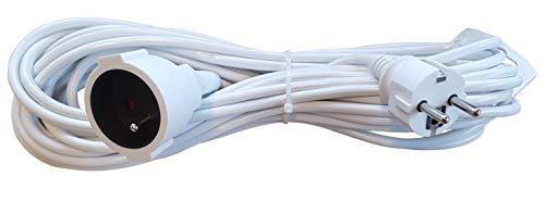 Schutzkontakt Verlängerungskabel/Kunststoffleitung / IP20 Innenbereich/Verlängerungskabel mit Kindersicherung/Schuko-Verlängerung / 3x1,5mm² 250V 16A 3500 Watt (10 Meter)