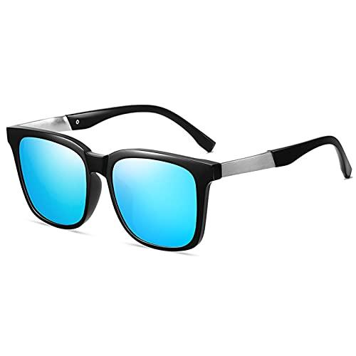 HQPCAHL Gafas De Sol Polarizadas para Hombres Y Mujeres Gafas De Sol Retro Premium Gafas De Sol Unisex con Protección UV para Conducir, Pescar, Hacer Senderismo Y Hacer Deporte,Azul