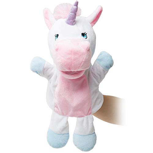 HollyHOME Unicorn Plush Hand Puppet Magical Friends Funny Storytime Gifts for Kids and Adult 14 Inches Pink