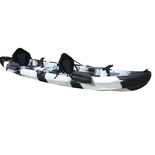 Cambridge Kayaks ES, Sun Fish TÁNDEM SÓLO 2 + 1,Negro Y Blanco, RIGIDO