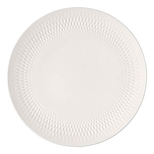 Villeroy & Boch 10-1681-2740 Manufacture Collier Centre, décoration de Table Festive, Porcelaine Premium, Lavage à la Main, Blanc