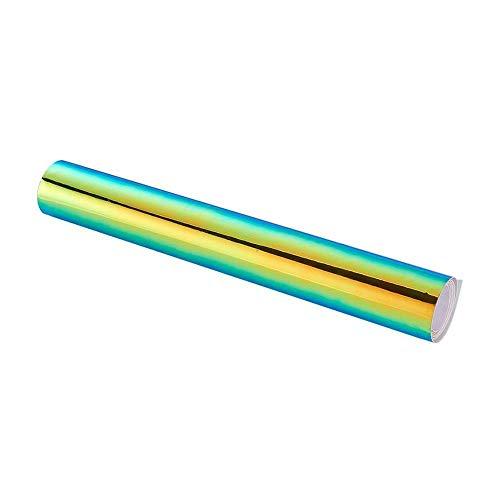 HYSJLS Automóviles Protección de Envoltura de Película 135 * 20M Pegatinas de automóvil Cambio de Color Color Chrome Vinyl Película Laser Plating Pegatina Pegatina Calcomanía Lanzamiento de Air Film