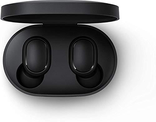 True Wireless Earbuds Basic, auriculares inalámbricos Bluetooth 5.0, caja de carga, sonido estéreo verdadero, auriculares Bluetooth inalámbricos con micrófono (negro)