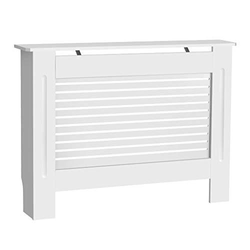 Mueble para radiador pintado, diseño moderno, color blanco, tablero DM, varios tamaños, S, M, L, XL Medium blanco