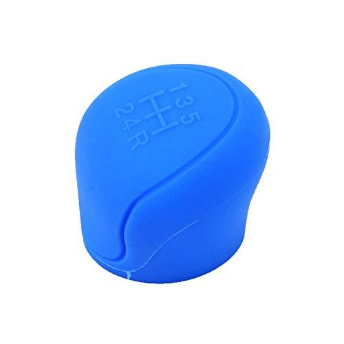 vorKDE Cubierta de Perilla de Cambio de Cabeza de Engranaje de Silicona Duradera Collares de Cambio de Engranaje de Coche, para Escort Ford Focus MK2 MK3 MK4 MT 2009-2017