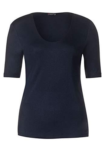 Street One Damen T-Shirt 313104 Palmira, Blau (Deep Blue 11238), 44