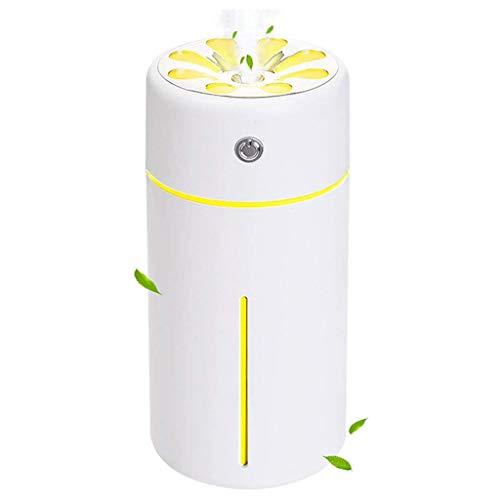 Auto-Luftbefeuchter Aroma Diffuser, 360ml Smart-Nachtlicht Aroma Diffuser, Mini-Ultraschall-Luftbefeuchter, Mit Kleiner Lampe Und Ventilator, USB-Lade, For Schlafzimmer, Babyzimmer, Wohnzimmer