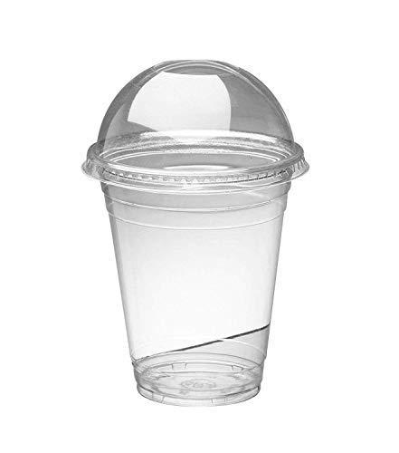 Majestic - Vasos transparentes de plástico para batidos 16oz / 470ml transparente