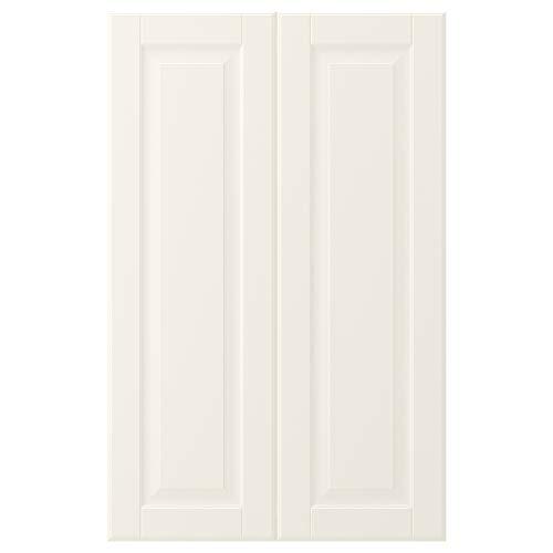 BODBYN 2-p dörr f hörnskåp set 25 x 80 cm benvit