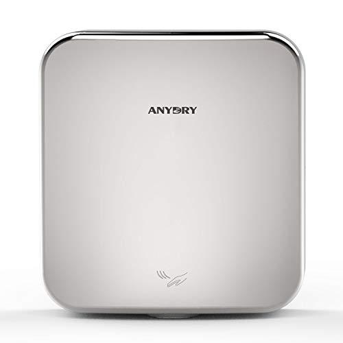 anydry®AD2800C secador de Manos Comercial, secador de Manos eléctrico, secador de Manos automático, montado en la Pared, Utilizado en baños, Carcasa de Acero Inoxidable.1400vatios(Pulido)