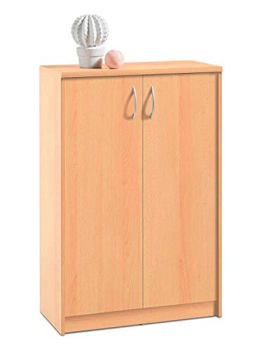 Kommode Highboard Mehrzweckschrank | Dekor | Buche | 2 Türen
