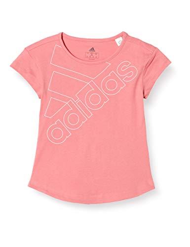adidas G Logo T1 T-Shirt für Mädchen, Mädchen, Unterhemd, GN3966, Rosbru/Rossua, 10 Años