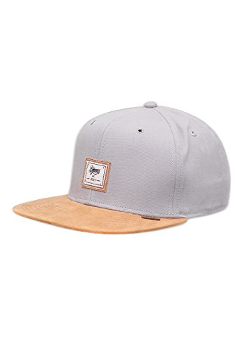 Djinns 10oz Canvas Grey Basecap Snapback 6 Panel Kappe Herren Mens