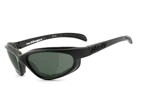 Helly® - No.1 Bikereyes® | POLARISIEREND | Bikerbrille, Motorradbrille, Sportbrille | UV400 Filter | HLT® Kunststoff-Sicherheitsglas | Polster | Brille: thunder 2