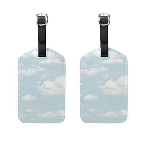 EZIOLY Clouds Chalk Blue Cruise Luggage Tags Suitcase Labels Bag,2 Pack