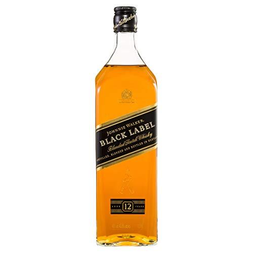 Johnnie Walker Black Label 12 Anos Whisky, 1L