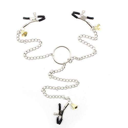 FHLJ Collar Ajustable de Metal con Tres cuellos de Acero Inoxidable, Herramienta...