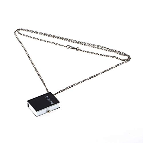 Swiftswan Unisex Vintage Einzigartige Death Note Buch Quarz Taschenuhr Anhänger Halskette Rechteck Für Geschenk geformt