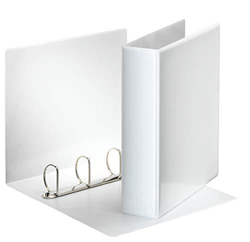 Esselte - Esselte Essentials - 49705 - Classeur à anneaux personnalisable - A4 - Capacité de 480 feuilles - Carton recouvert de polypropylène - 4 anneaux - Blanc