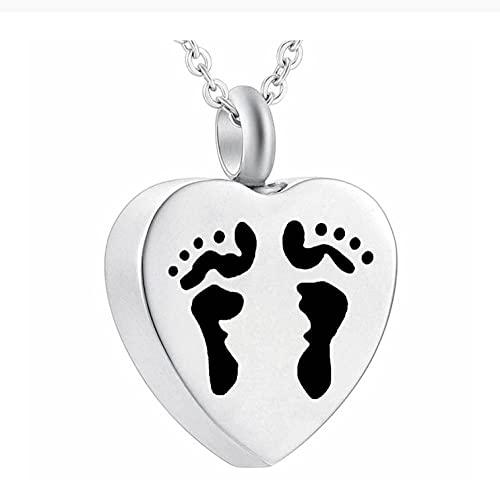 Lddpl Collar con colgante de urna de cenizas de recuerdo con diseño de corazón y kit de embudo