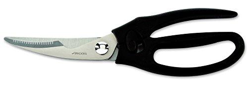 Arcos Serie Ecopro - Trinciapollo - Lama Acciaio Inossidabile 240 mm - Manico Polipropilene + Elastomer Colore Nero