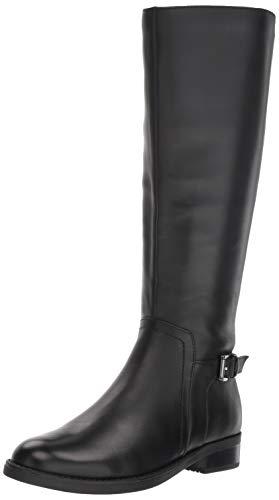 Blondo Women's Evie Fashion Boot, Black Leather, 8 W US