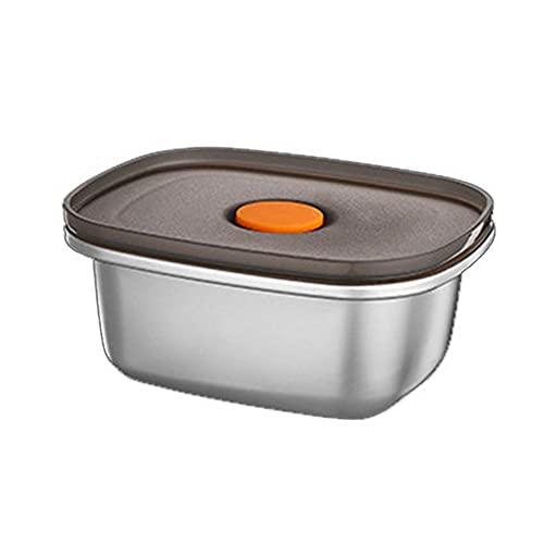RUMUI Recipientes de Alimentos de Acero Inoxidable 304 Bento de Metal a Prueba de Fugas con Tapas Selladas Caja de Almacenamiento de Alimentos refrigerados