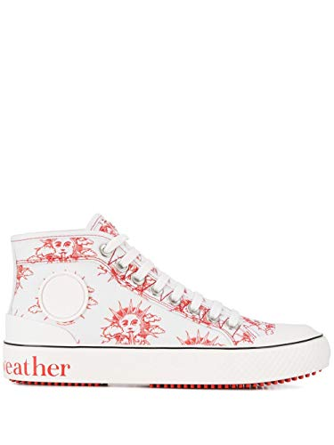 Luxury Fashion | Stella Mccartney Dames 800033N0048K909 Wit Katoen Hi Top Sneakers | Lente-zomer 20