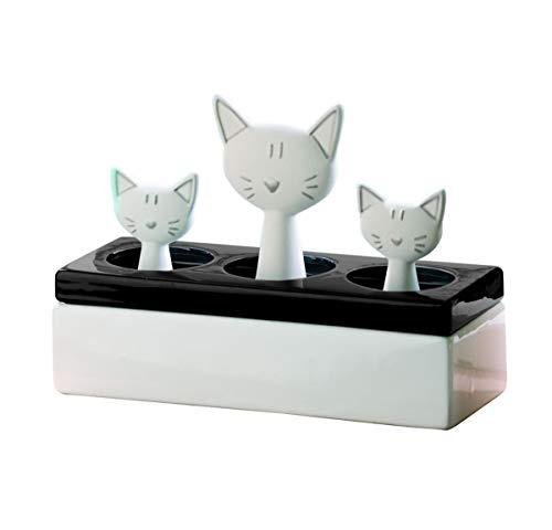 Keramik Luftbefeuchter Katzenfamilie