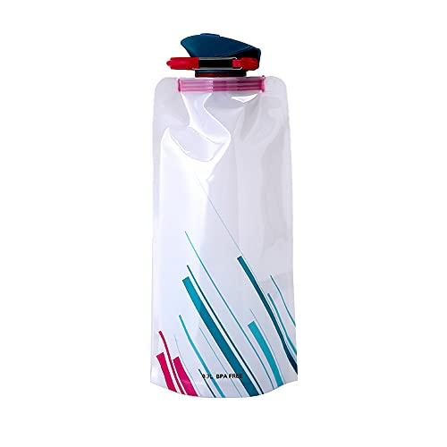 Botella de agua de 700ml BPA Free PE Contenedor de bebida portátil Botella de agua plegable deportiva para viajes en bicicleta de montaña