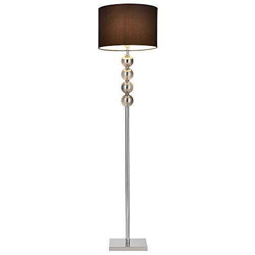 lux.pro] Lampada da Terra Klagenfurt 155 x ø 37,5 cm E27 Lampada a Stelo Cromo Nero