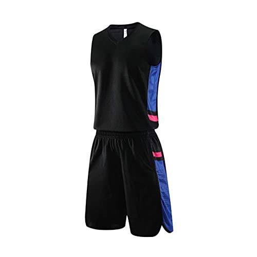 GJHJ Camisetas Baloncesto Hombre - Uniformes Equipo Blanco Verano Al Aire Libre para Deportes Scrimmage Bulk