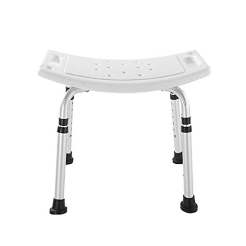 Bath Chair Shower Stool Elderly Shower Seat, Height Adjustable Non-Slip Bath Stool Aluminum Frame Disabled Bath Seat, Maximum Load 158KG Bathroom Wheelchair Aids Adjustable