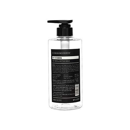 Zubehör Hand Sanitizer Flasche Duschgel Dispenser Weiß 500ML Lotionsflasche Dispenser für Shampoo Flaschen ersetzen Nordischer Stil(Transparent)