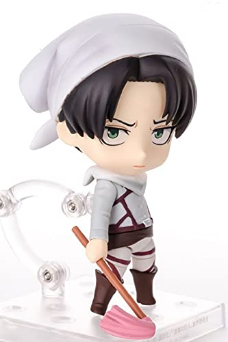 Q Version Attack On Titan Levi Ackerman Moveable Action Figures Toys with Accessories and Movable Joints Statue Collection Toy Anime Decoration Ornaments Figurines Toys
