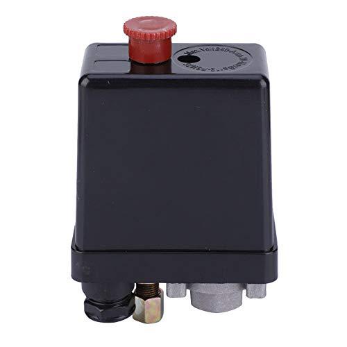 Interruptor de presión de compresor de aire, para todos los compresores de aire controlador de válvula de control de presión con botón de ajuste de agujero único/3 agujeros (un solo agujero)