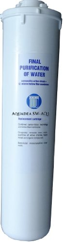 Spar-Set 3 Stück Aquadea Schnell-Wechsel Filterpatrone SW-Aquadea - Q1 Aktivkohle-Block und Mikro-Hohlfasermembran 0,1 µ als Keimsperre