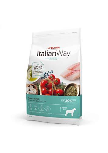 Italian Way Cibo per Cani Ipoallergenico Ideal Weight Trota e Mirtilli - Adult - Maxi - 12 kg