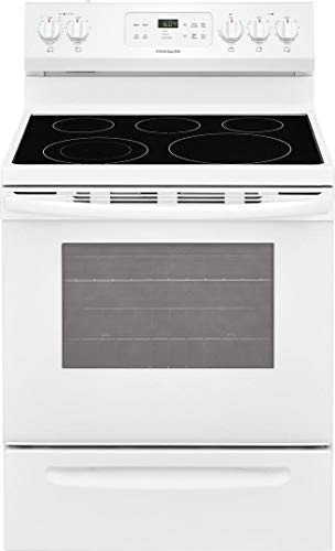 Frigidaire FFEF3054TW 30 Inch Electric Freestanding Range with 5 Elements, Smoothtop Cooktop, Storage Drawer, 5.3 cu. ft…