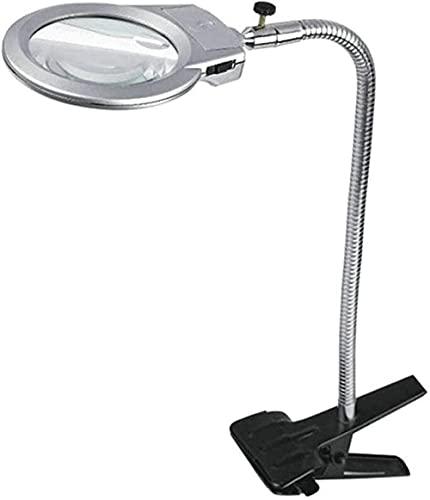 ZZZLL Light Light Light-on Magnifier con Vidrio de Lectura de Metal Ligero 8 / 30x Lupa de Lectura de Escritorio