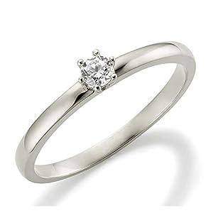 Verlobungsring Weißgold 6 Krappen Ehering Engagement Ring Antragsring Neu in 585 und in 333 375 Ehering Verlobung Gold Brillant Schliff Zirkonia Günstig Diamant