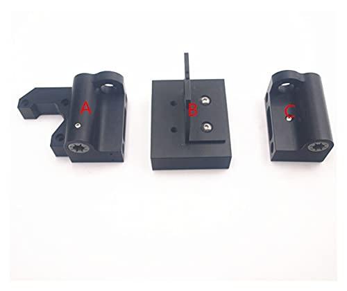 shengyuan Black color Prusa i3 MK2/MK3 upgrade aluminum X motor/X idler kit metal X axis carriage extruder kit (Size : A)