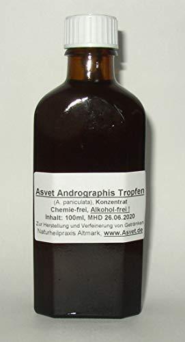 Asvet 100ml Andrographis Extrakt, Tinktur, Kalmegh Tropfen, Konzentrat, Bio Qualität