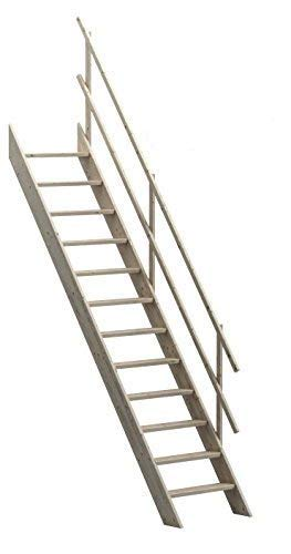 Sunlux Oxford 70 Wooden Staircase Kit Loft Stairs/ladder 700 mm width + Anti-Slip Steps